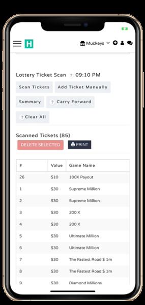 lottery scanning technology